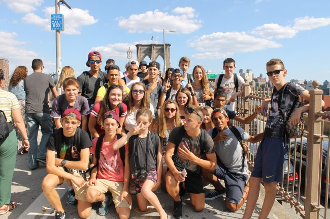 Excursion sur le pont de Brooklyn