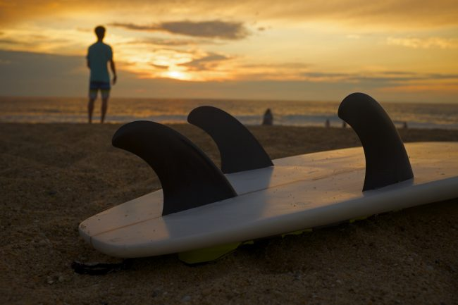 les ailerons 60% des accidents de surf