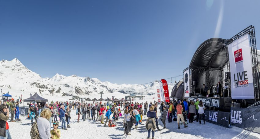 Stations festives - - Live in tignes by francolies - photographe OT Tignes Louis Garnier
