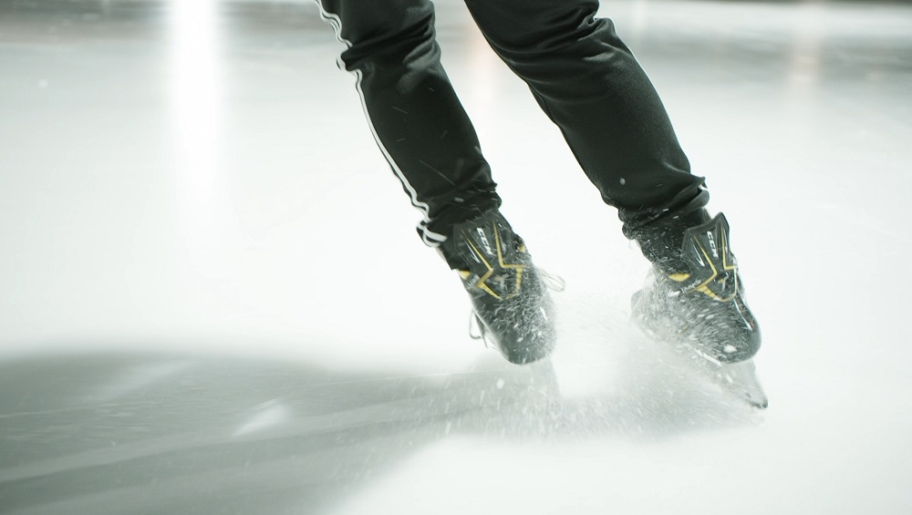 freinage parallele patin a glace