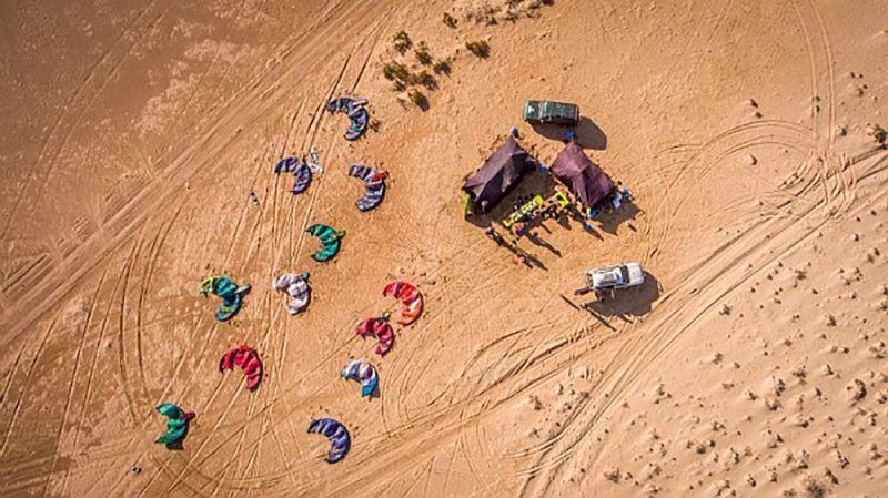 Spot Kitesurf Dakhla Maroc - spot tendance tranquille et lagune bleue