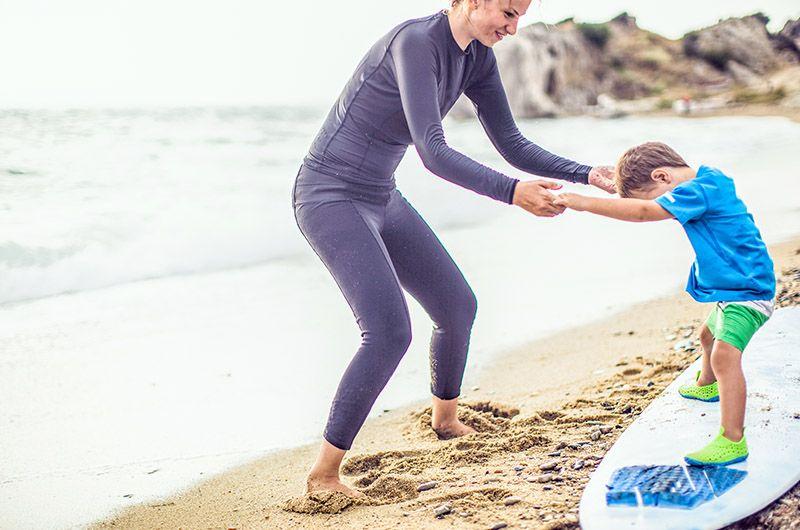 Equilibre et coordination en surf enfant
