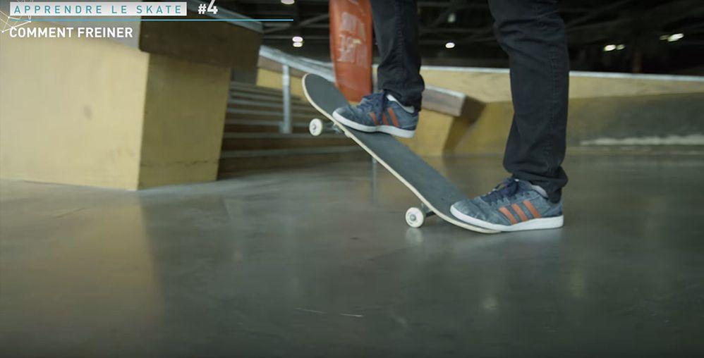 Freiner en skateboard