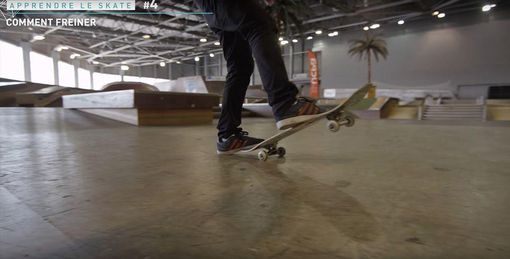 Astuce freiner skateboard tail board