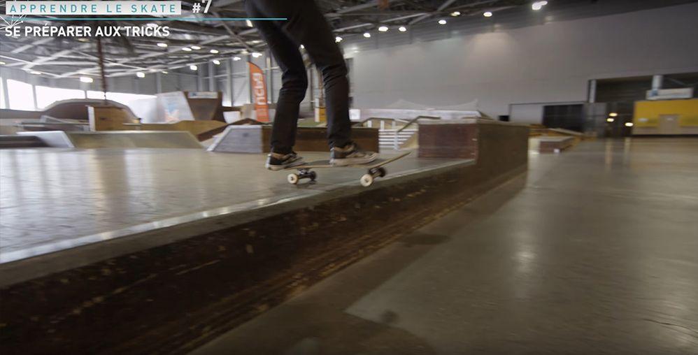 Position saut marche skateboard