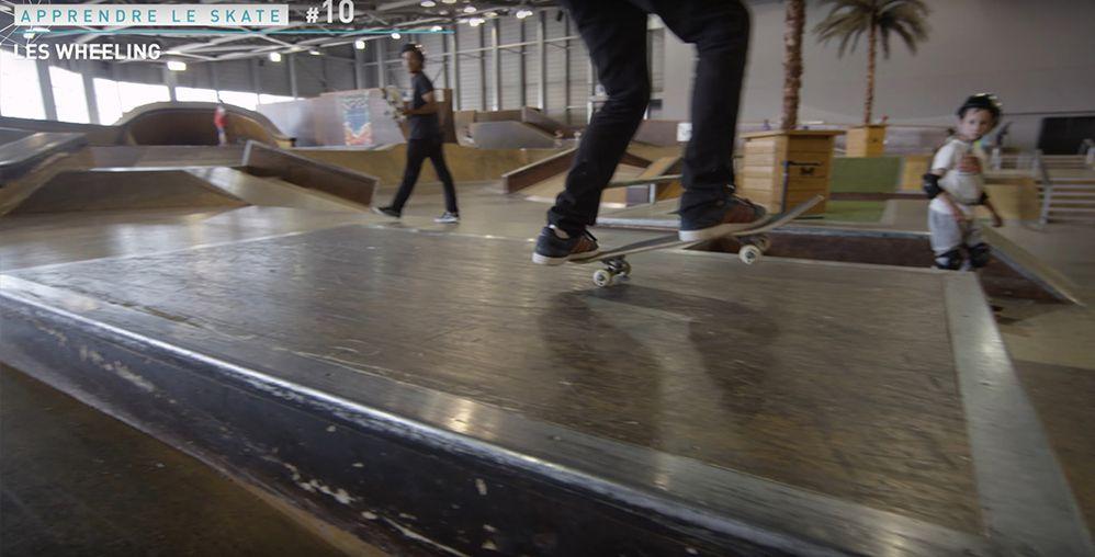 Wheeling skateboard