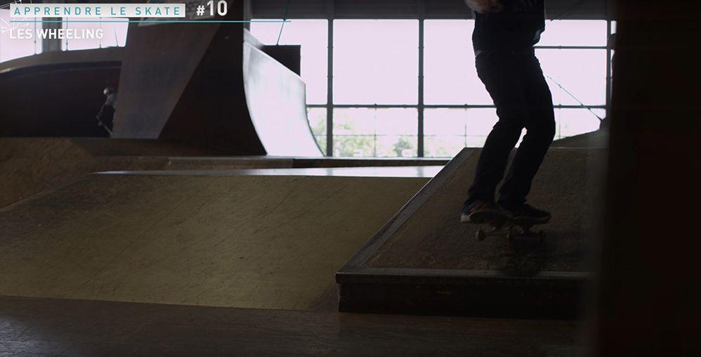 Technique wheeling manual skate