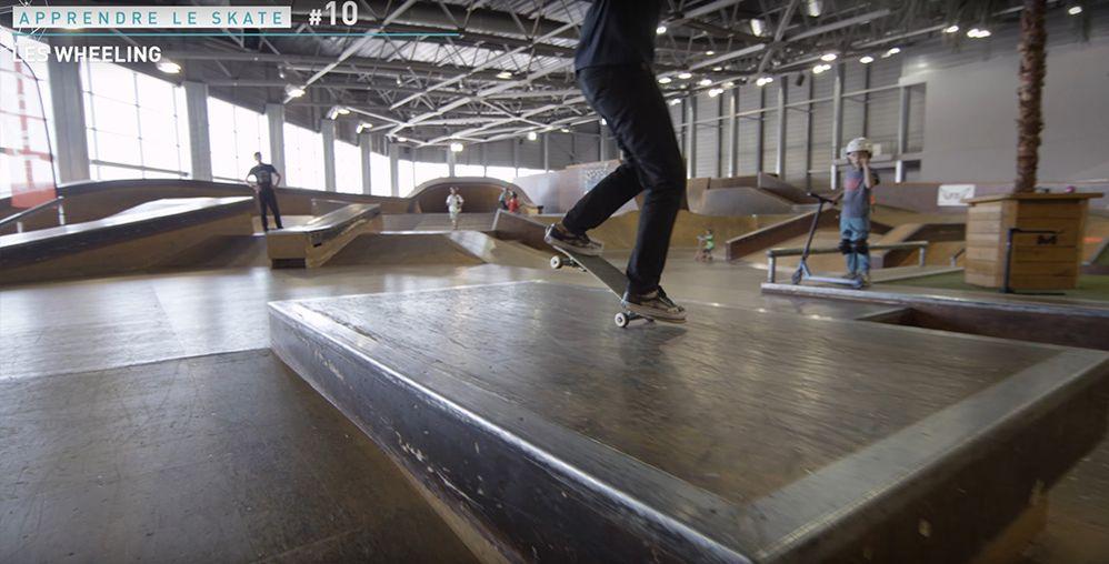 Equilibre nose manual skate roues avant