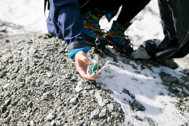 trier ses déchets en randonnée