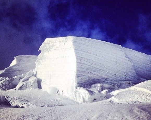 Enneigement Chamonix piste hauteur de neige