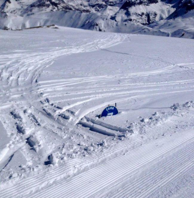 Enneigement en fin de saison a Val d'Isere