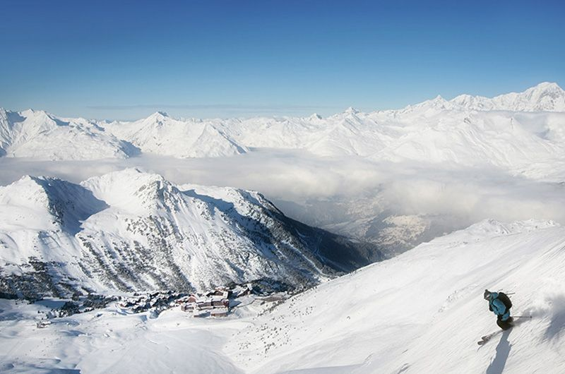Paradiski grand domaine skiable en France La Plagne